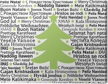 Fotobehang Merry Christmas In Verschillende Talen Typografische
