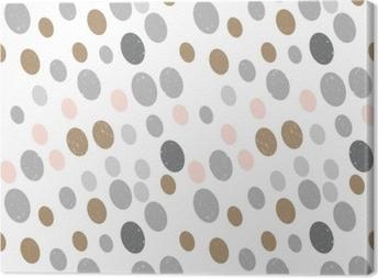 Canvas Modern vector abstract naadloos geometrisch patroon met cirkels in retro Skandinavische stijl