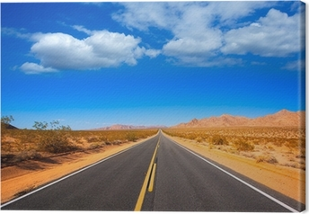 Canvas Mohave woestijn van Route 66 in California USA