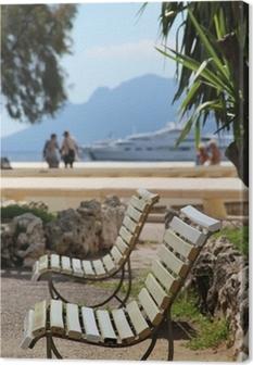 Canvas Mooi uitzicht van Cannes in de zomer, Frankrijk