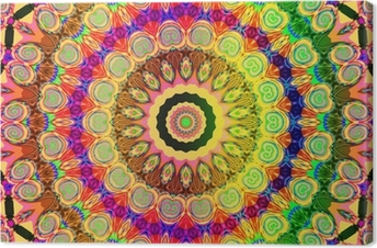 Canvas Mooie gekleurde mandala