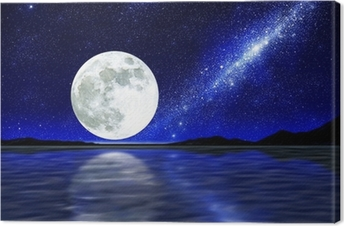 Canvas Moon over water