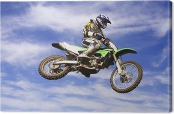 Canvas Moto kruis sprong