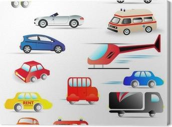 Canvas Motorvoertuigen - set