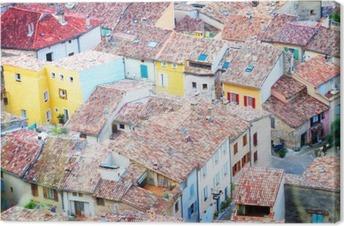Canvas Moustiers-Sainte-Marie, Frankrijk, de Provence.