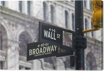Canvas Muur st. straat teken, New York, USA.