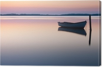 Canvas Mystieke zee. Abstracte natuurlijke achtergronden. Moon scène na zon