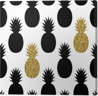 Canvas Naadloos Ananas Patroon