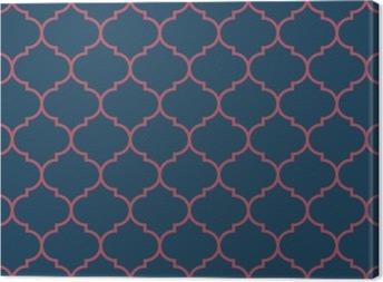 Canvas Naadloos donkerblauw en bordeauxrood breed marokkaans patroon vector