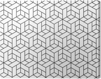 Canvas Naadloze geometrische patroon met blokjes.