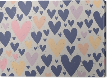 Canvas Naadloze hart patroon