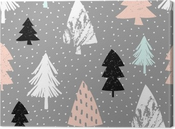 Canvas Naadloze Kerst patroon