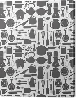 Canvas Naadloze keuken patroon