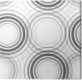 Canvas Naadloze monochroom cirkels patroon