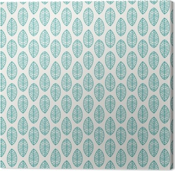 Canvas Naadloze patroon met bladeren