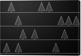 Canvas Naadloze patroon met sparren geïsoleerd op achtergrond