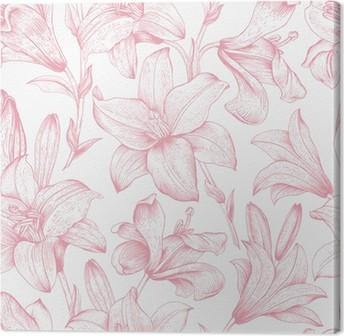 Canvas Naadloze vector bloemmotief