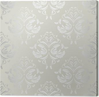 Canvas Naadloze wallpaper.damask pattern.floral achtergrond
