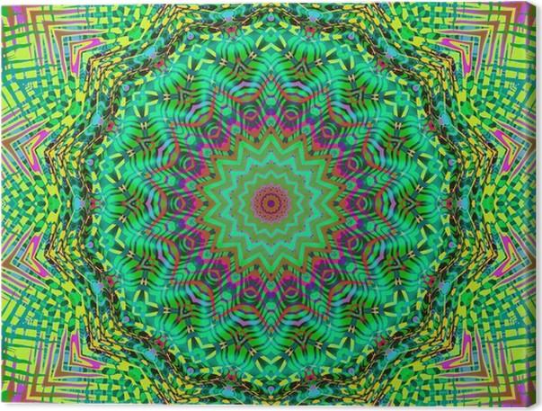 Canvas Natuur kleuren mandala • Pixers® - We leven om te veranderen