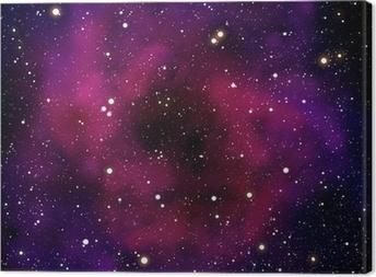 Canvas Nevel en ster in de ruimte gebied