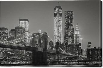 Canvas New York City in de nacht