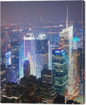 Canvas New York City Manhattan Times Square skyline luchtfoto