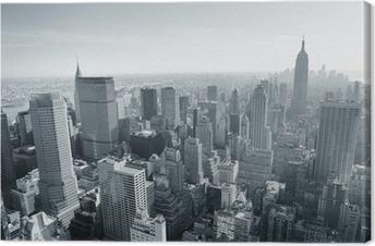 Canvas New York City skyline zwart en wit