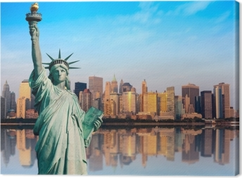 Canvas New York standbeeld de la Liberte