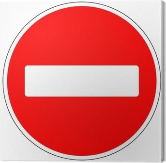 Canvas No entry verkeersbord
