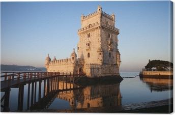 Canvas Ochtend bij Toren van Belem in Lissabon