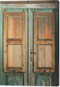 Canvas Old wooden door