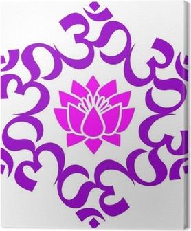 Canvas OM - AUM - Lotus Mandala boeddhistische Symbool