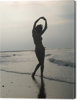 Canvas Ombre femme sur plage