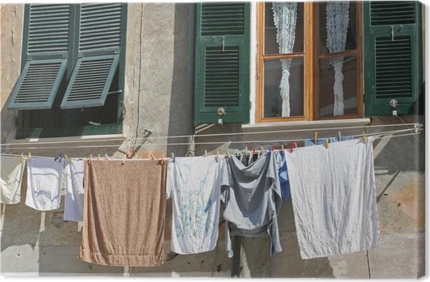 canvas opgeschort voorruit gordijn doek vernazza itali