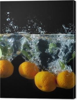 Canvas Oranje splash