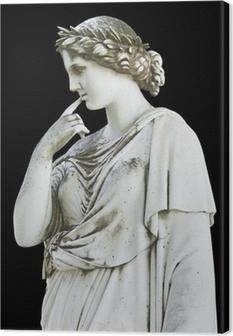Canvas Oud standbeeld van een Griekse mythische muse