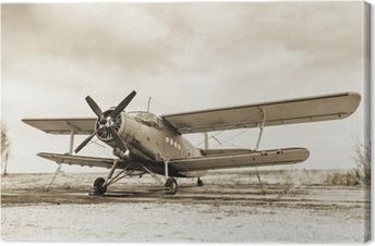 Canvas Oud vliegtuig