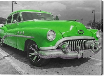 Canvas Oude Amerikaanse auto