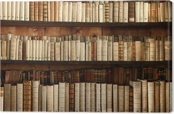 Canvas Oude Bookshelf