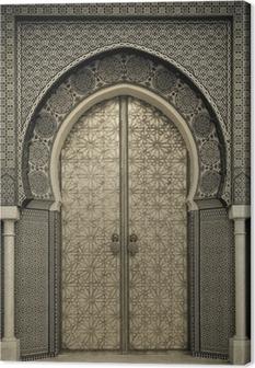 Canvas Oude deuren, Marokko