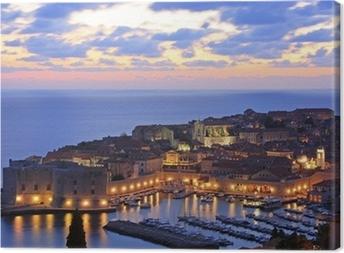 Canvas Oude Haven in Dubrovnik, Kroatië
