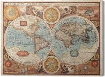 Canvas Oude kaart (1626)