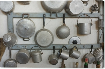 Canvas Oude keuken apparatuur