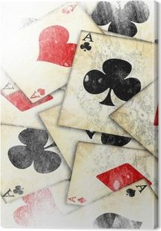 Canvas Oude speelkaart