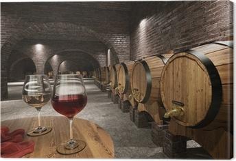 Canvas Oude wijnkelder