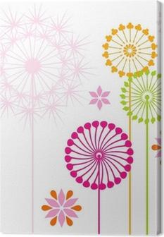 Canvas Paardebloemen gekleurde