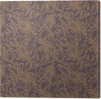 Canvas Paisley stof orient naadloos patroon