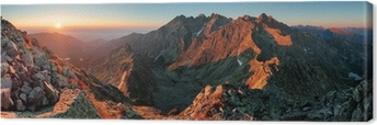 Canvas Panorama berg herfst landschap