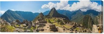Canvas Panorama van Mysterious stad - Machu Picchu, Peru, Zuid-Amerika.
