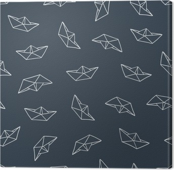 Canvas Paper boat naadloos patroon